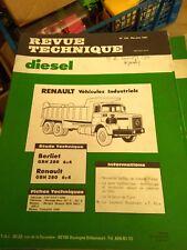 REVUE TECHNIQUE DIESEL TRACTEURS N°109 RENAULT BERLIET GBH280 GBH 280 6x4