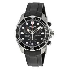 Certina DS Action Chronograph Black Dial Black Rubber Mens Quartz Watch