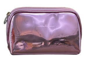 Salvatore Ferragamo Pink Make-Up Bag Pouch medium size