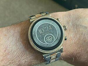Michael Kors Access Sofie Gen 4 Steel & Gold Plated Crystal Smart Watch MKT5064