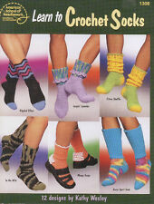 ASN Learn to Crochet  Socks 12 Designs Patterns Instructional