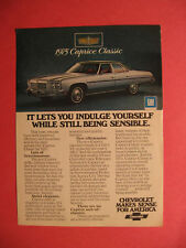 February 1975 Reader's Digest Ad for 1975 Chevy Caprice