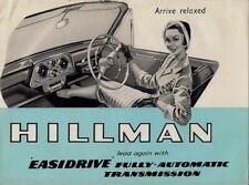 Hillman Minx Series IIIB Easidrive 1960-61 UK Market Foldout Sales Brochure