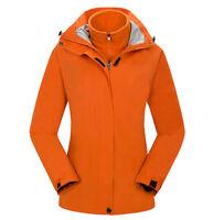 D112 Women Lady Orange Ski Snow Snowboard Winter Waterproof Jacket 6 8 10 12 14
