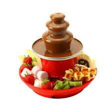Global Gourmet Chocolate Fountain Mini 250ml Fondue Set with Party Serving Tray