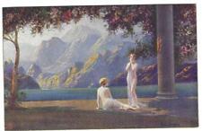 RAPHAEL TUCK POSTCARD 1920's - GOLDEN DAWN SERIES - CARD 3800 ART DECO STYLE #4