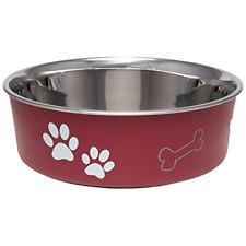 Loving Pets, Bella Dog Bowl, Bella Bowl, Large Dog Bowls, Pet Supplies, Merlot