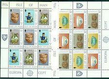 EUROPA CEPT - ISLE OF MAN 1976 Craft sheetlets