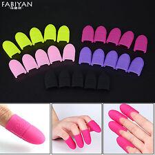 5Pc Nail Art UV Gel Polish Remover Wrap Silicone Soak Off Cap Clip Manicure Tool