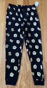 Men's STAR WARS Baby Yoda Lounge Bottoms Pajama Cotton Control Logos Size Small