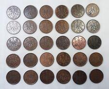 Lot of 30 Japan paulownia 1 sen (bronze) 1916~1938 random Coins 30 pcs  - cxk-9