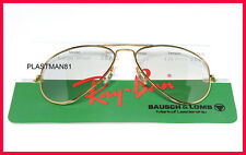N.O.S VINTAGE RAY BAN B&L AVIATOR LARGE METAL GOLD FRAME 56mm (Sunglasses)