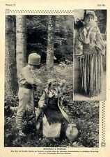 Bulgarische Fürstenkinder in walachischer Bauerntracht XXL-Bild von 1909