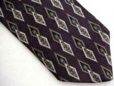 Andhurst Purple Geometric Diamond Design CLIP ON Neck Tie