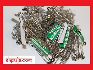 100 X Large Silver/Chrome Safety Pins Bundle New Uk Stock Fast Postage