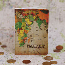 Passport Holder MAP, vinyl cover Document ID Travel case protector skin