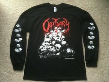 1991 OBITUARY UK/EUROPEAN TOUR SHIRT death metal blue grape slayer bolt thrower