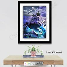Mythical Unicorn Magic Horse Creature Photo Poster Print ONLY Wall Art A3 Prints