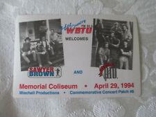 SAWYER BROWN / DIAMOND RIO 1994 CONCERT PASS - FM 93.3 WBTU - INDIANA