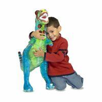 Melissa & Doug GIANT T-Rex Dinosaur - Stuffed Animal Wildlife, Bold Colours New