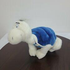Vintage Dr Seuss Yertle The Turtle Plush Turtle Stuffed Toy Blue White 1998