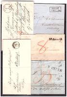 Deutsches Reich ca.1840-1870 25  Briefe ohne Frankatur Sammlung