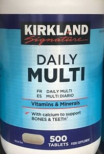 Kirkland DAILY MULTI VITAMINS & MINERALS 500 X 2 (1000 Total Tablets)