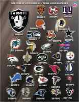 NEW NFL Football League Cut Out Team Logo Official Licensed Pewter Belt Buckle