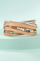 Stella&Dot Jewelry / Yves Wrap Bracelet For Women - BLUSH