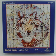 Complete 500 Piece Puzzle SunsOut Kindred Spirits Diana Casey Wolf Hidden Image