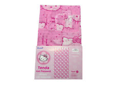 TENDA HELLO KITTY CALATA CON ASOLE IN VELO CAMERETTA CAMERA BIMBA 140X280 cm