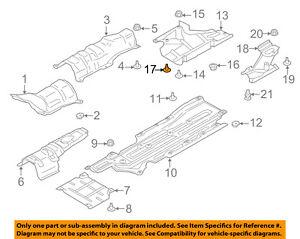 FORD OEM Floor-Side Shield Rivet W716391S300