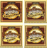 Ernie Ball Earthwood 80/20 Bronze Acoustic Guitar Strings - Choice of Gauge