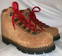Vintage Mens 6 DUNHAM SPECIALE Mountaineering Boots Brown Leather Ankle Vibram