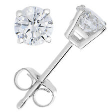 1 4 Cttw Diamond Stud Earrings 14k White Gold G Basket Set With Push