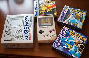 Nintendo Game Boy Classic DMG-01 Refurbished Backlight IPS RIPS + Box no Pokemon