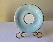 Vintage Castleton Turquoise China Corsage Pattern Saucer Plate Replacement Dish