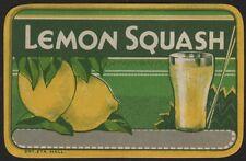 Etikett / étiquette / label - Lemon Squash / Zitronen Sirup / ca.1930 # 1874