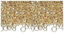 100 + GOLD PLATED Brass JUMP RINGS Mix 3-12mm Round New (8 grams of Findings)