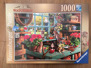 Ravensburgher Jigsaw Puzzle Is He Watching 1000 pieces Complete