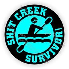 $h*t Creek Survivor Funny Helmet Sticker ~ Hard Hat Decal Label ~ Safety Foreman