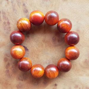 Superb 20 MM Translucent Beads Borneo Agathis Bracelet 12 Beads Raja Kayu #07