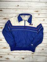STARTER NEW YORK METS Jacket 1/4 Zip Pullover MLB Baseball Windbreaker L Coat