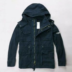 Mens Abercrombie & Fitch Navy Blue Jacket XXL