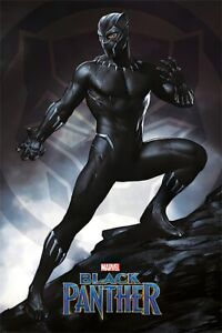 """Black Panther - Marvel Movie Poster / Print (Panther / Stance) (Size: 24"""" X 36"""")"""