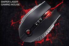 A4tech Gaming Laser Mouse ZL50, USB, 8200DPI, rechts, schwarz-rot (MA4TMYS45090)