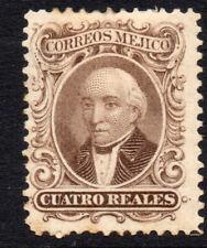 Sello de México 4 Real c1864 sin usar (poco tono)