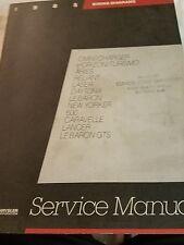 1985 Laser Lebaron New Yorker Shop Service Repair Manual Book wiring diagrams