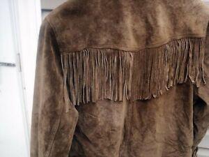 Ladies Esprit Chestnut Suede Fringe jacket  Size L Large