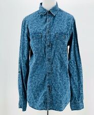 f4a9ecfe3a3 Mossimo Women Denim Chambray Floral Long Sleeve Button Front